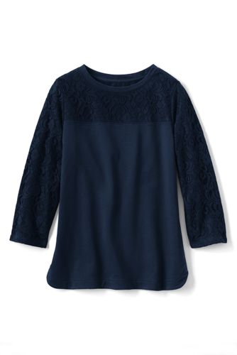 Women's Regular Three Quarter Sleeve Lace Top