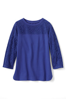 Women's Three Quarter Sleeve Lace Top