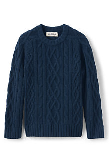 Kids' Cashmere Aran Cable Jumper