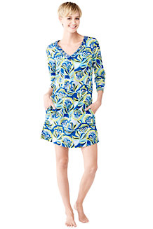 Women's Floral Cotton Lawn Tunic Cover-up