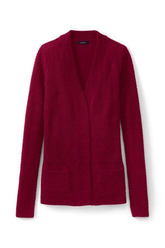 Le Cardigan Texturé Ouvert, Femme Taille Standard