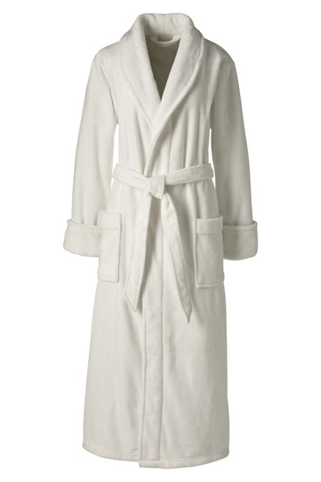 Women's Petite Plush Fleece Long Robe