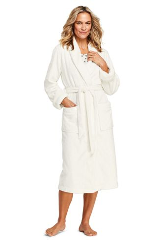 Women s Plush Fleece Long Robe e3aebbd40