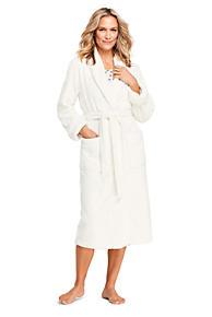 Women s Plush Fleece Long Robe 4fe7b46353