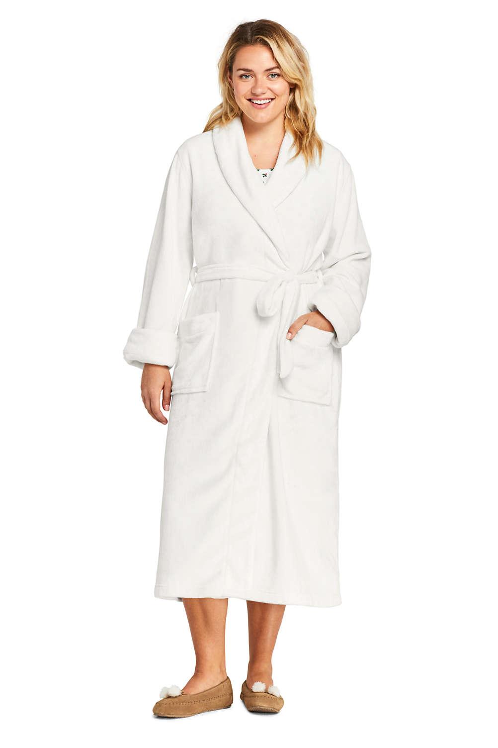 59efb02135e0 Women's Plus Size Plush Fleece Long Robe from Lands' End
