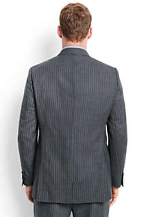 Men's Tailored Fit Wool Year'rounder Suit Jacket, Back