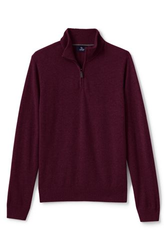 Men's Regular Zip-neck Cashmere Jumper