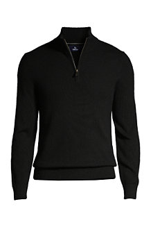 Men's Zip Neck Cashmere Jumper