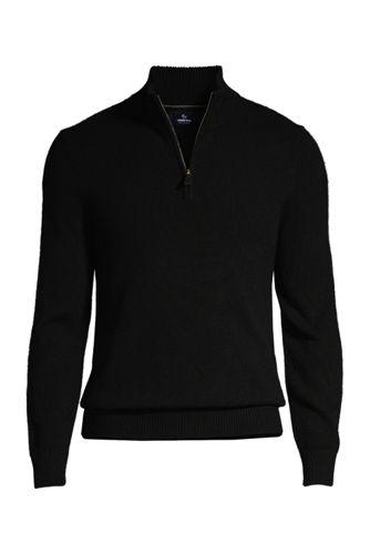 Men's Regular Zip-neck Cashmere Jumper