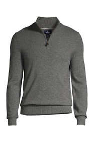 Men's Fine Gauge Cashmere Quarter Zip