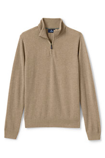 Men's Zip-neck Cashmere Jumper
