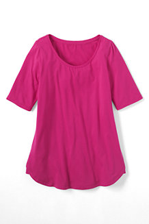 Women's Cotton/Modal Scoop Neck Tunic