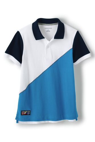Little Boys' Colourblock Piqué Polo