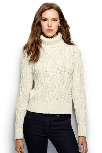 Women's Regular Aran Drifter Roll Neck Jumper