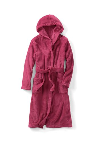 Girls' Hooded Fleece Dressing Gown
