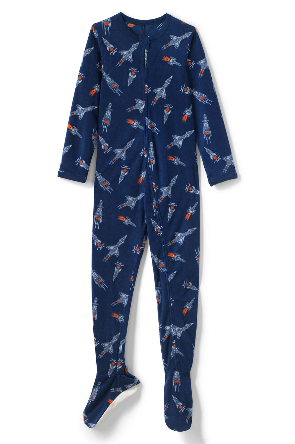 5c568a06d2 Boys Full Zip Fleece Footed Sleeper from Lands  End