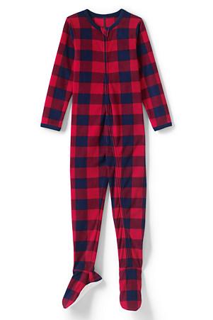7c65bb6cbd9f09 Fleece-Schlafanzug mit Füßen für Jungen | Lands' End