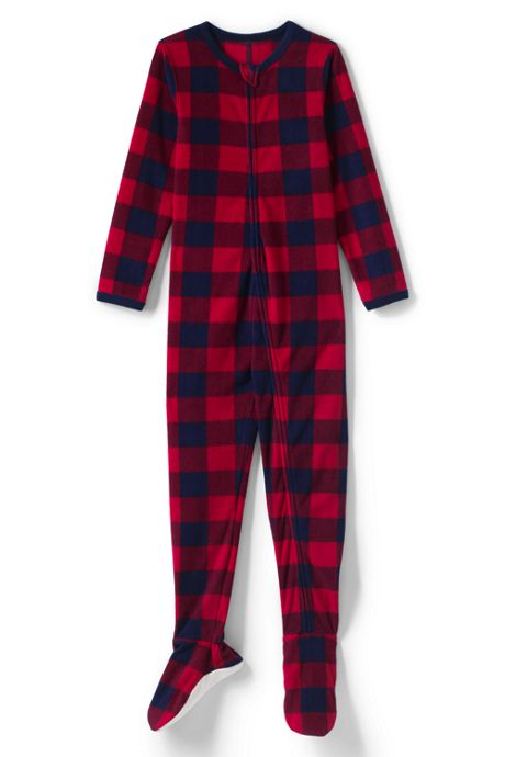 Boys Full Zip Fleece Footed Sleeper