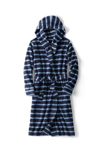 Boys' Patterned Hooded Fleece Dressing Gown