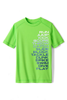 Boys' Short Sleeve Active Graphic Tee