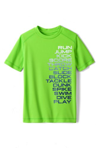 Little Boys' Short Sleeve Active Graphic Tee
