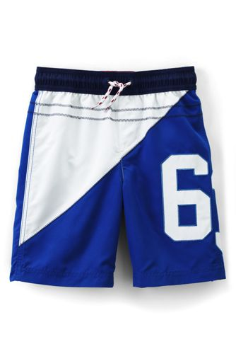 Little Boys' Appliqué Swimming Trunks