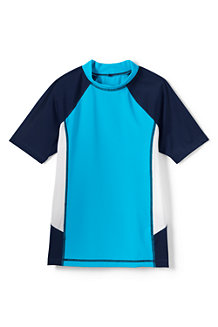 Little Boys' Short Sleeve Colourblock Rash Guard