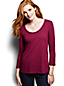 Women's Regular 3-Quarter Sleeve Lace Trim Top