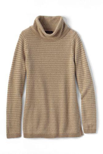 Vogelaugen-Pullover mit Umschlagkragen