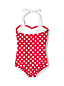 Little Girls' Coastal Spirit Bow Swimsuit