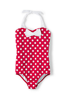 Girls' Coastal Spirit Bow Swimsuit