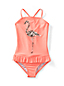 Little Girls' Pretty Polynesia Flamingo Swimsuit