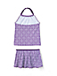 Little Girls' Pretty Polynesia Scalloped Edge Skirted Tankini