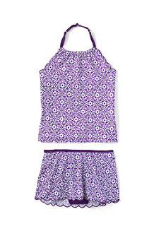 Girls' Pretty Polynesia Scalloped Edge Skirted Tankini