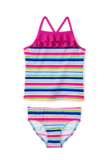Girls' Pretty Polynesia Ruffle Tankini