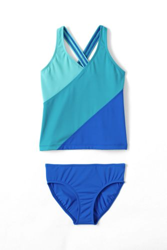 Little Girls' Smart Swim Colourblock Tankini