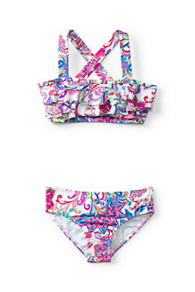 Girls' Tropical Paradise Ruffle Bikini Set