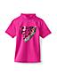 Little Girls' Short Sleeve Graphic Rash Vest
