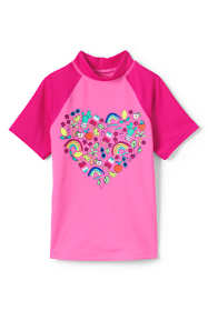 Girls Slim Short Sleeve Rash Guard