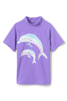 Girls' Short Sleeve Graphic Rash Vest