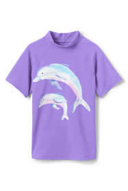 Toddler Girls Short Sleeve Rash Guard
