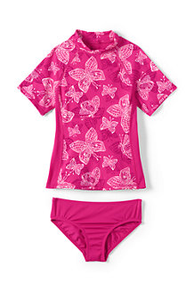 Girls' Tropical Paradise Rash Guard Set