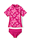 Toddler Girls' Tropical Paradise Rash Guard Set