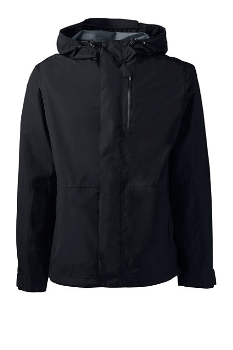 Lands End Breathable Waterproof Mens Rain Jacket