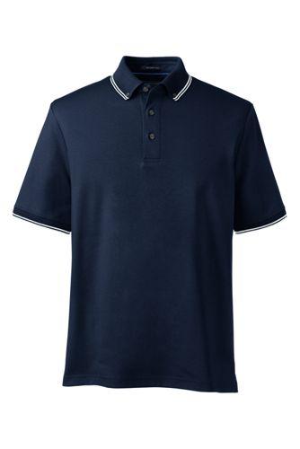 Men's Regular Textured Collar Supima® Polo