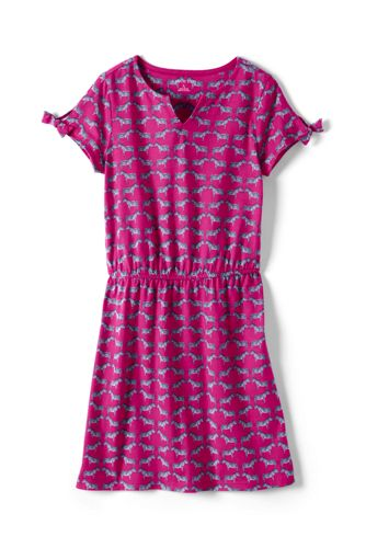 Toddler Girls' Capped Sleeve Patterned dress