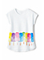 Girls' Dolman Short Sleeve Graphic Tee