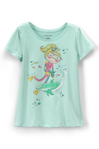 Little Girls' Scalloped Edge Graphic Tee