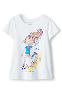 Girls' Scalloped Edge Graphic Tee
