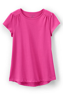 Girls' Gathered Shoulder T-Shirt